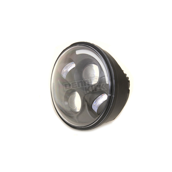 V-Twin Manufacturing Black 5 3/4 in. LED Headlight - 33-1043