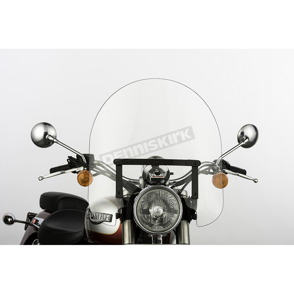 Slip Streamer 17 in. Clear SS-30 Classic Windshield w/Black Quick Release Hardware - SS-30-17CWQB