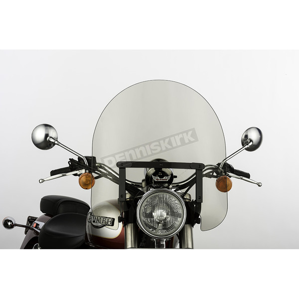 Slip Streamer 17 in. Smoke SS-30 Classic Windshield w/Black Quick Release Hardware - SS-30-17TWQB