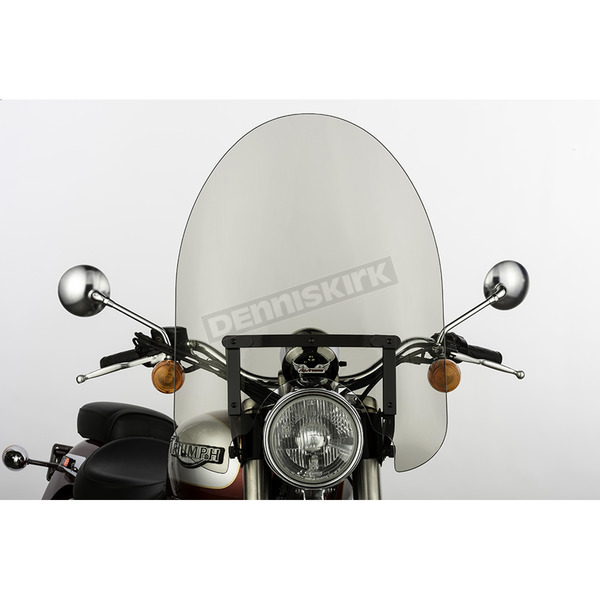 Slip Streamer 22 in. Smoke SS-30 Classic Windshield w/Black Quick Release Hardware - SS-30-22TQB