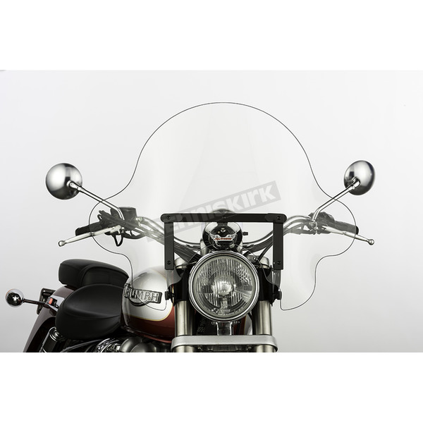 Slip Streamer 16 in. Clear SS-32 Falcon Windshield w/Black Quick Release Hardware - SS-32-16CWQB