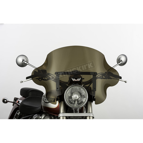 Slip Streamer 13 in. Dark Smoke SS-34 Phantom Windshield w/Black Quick Release Hardware - SS-34-DSVQB
