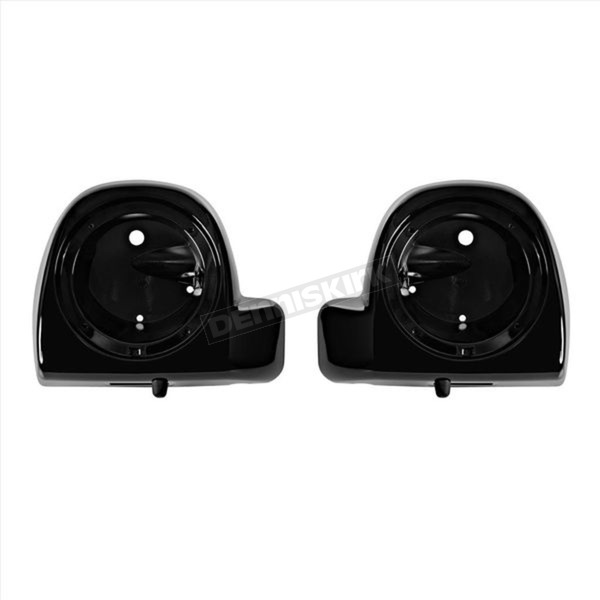 HogWorkz Vivid Black 6 1/2 in. Lower Fairing Speaker Pod Mounts - HW144208