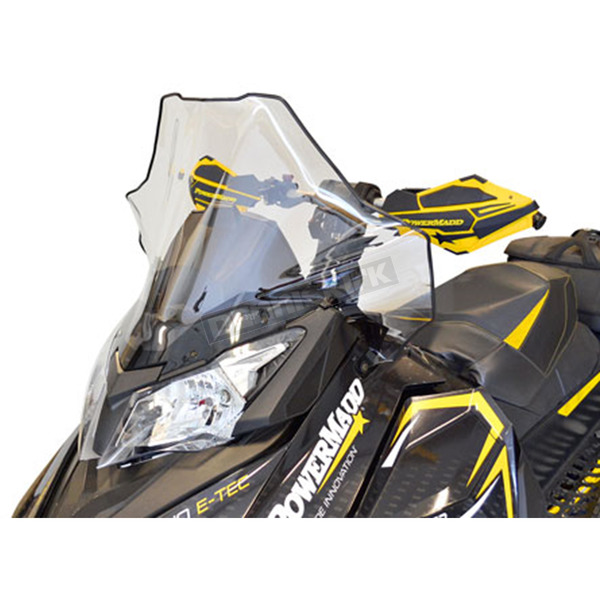 PowerMadd 17 in. Clear Windshield w/Black Fade - 13530