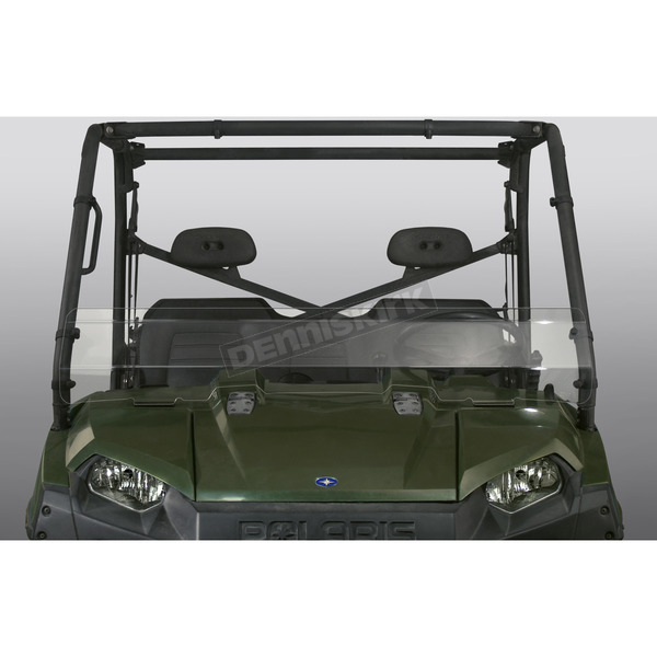 Clear 10.91 in Low Lexan/Polycarbonate Quantum Hardcoated Windshield - N30206