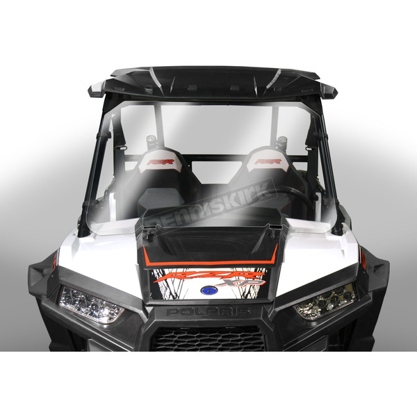 Clear 25.88 in. Full Lexan/Polycarbonate Quantum Hardcoated Windshield - N30210