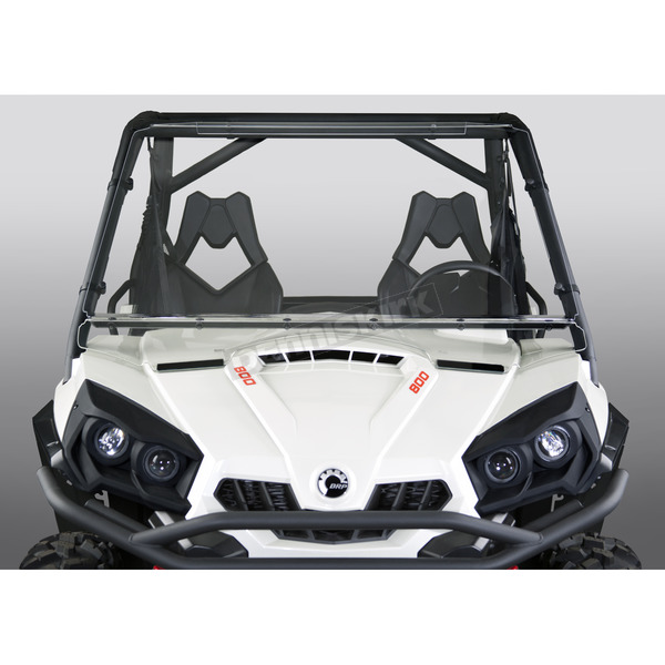 Clear 27.5 in. Full Lexan/Polycarbonate Quantum Hardcoated Windshield - N30401