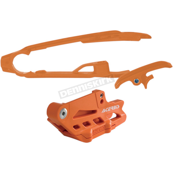 Acerbis '16 Orange Chain Guide and Slider Set - 2630765226