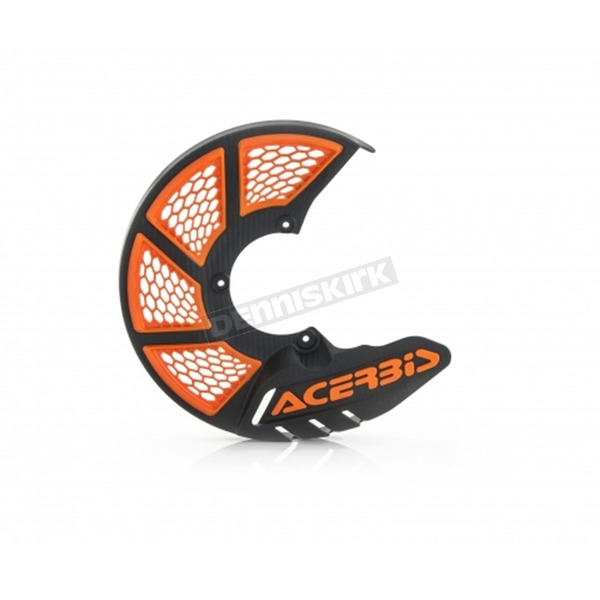 Acerbis Black/16 Orange X-Brake 2.0 Vented Front Disc Cover - 2449495229