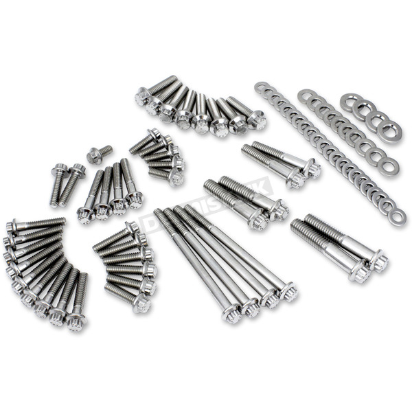 Polished Stainless 12 Point Primary and Transmission Fastener Kit - 3028