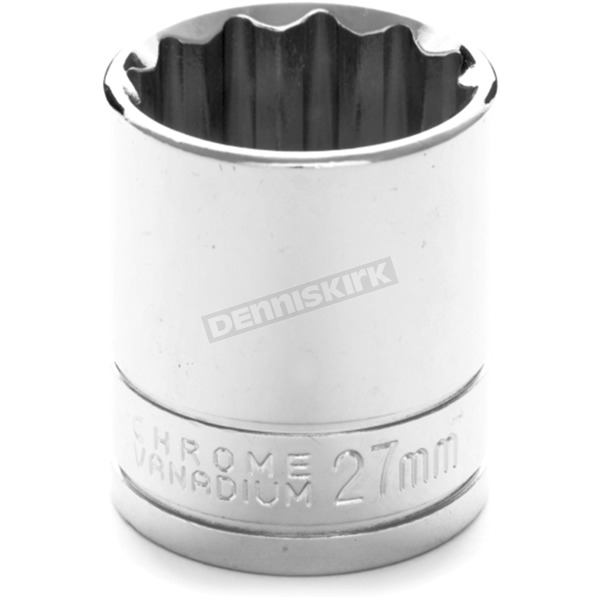 Performance Tool 1/2 in. Drive 27mm 12 Point Socket Tool - W32827