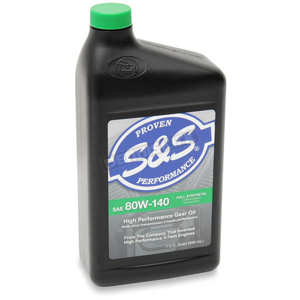S&S Cycle SAE 80W/140 High Performance Full Synthetic Big Twin Gear Oil - 3604-0007