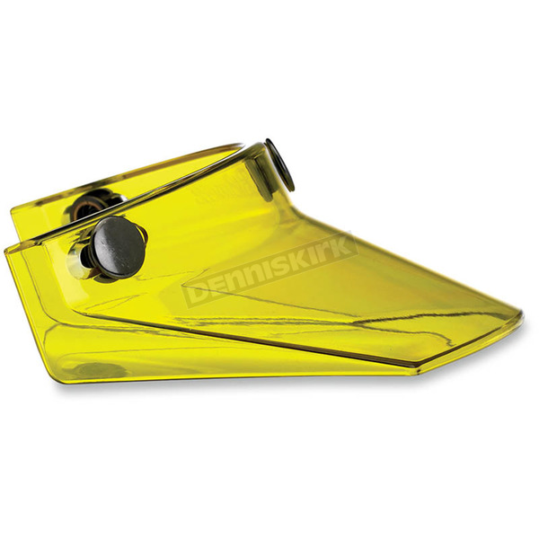 Yellow Translucent Three Snap Visor - MV-YEL-00-TN