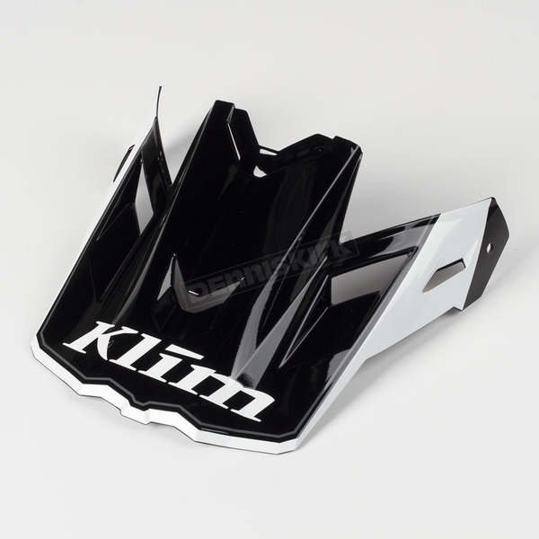 Klim Black/White Visor for F3 Helmet - 3866-000-000-004