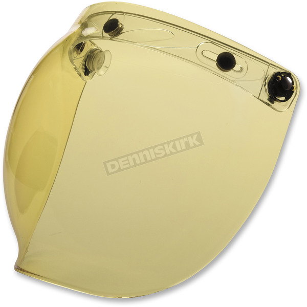 Z1R Amber Flip-Up Three-Snap Bubble Shield - 0130-0751