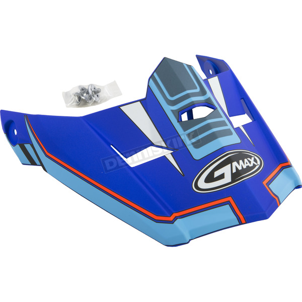 Matte Blue/Hi-Vis Red Visor for MX46 Uncle X-Small to Small Helmet - G046837