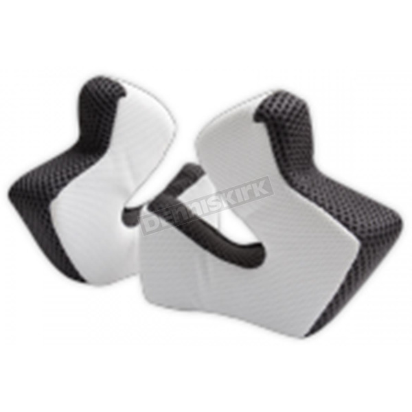 Troy Lee Designs White 3D Cheekpad Set for SE3 Helmets - 144003102