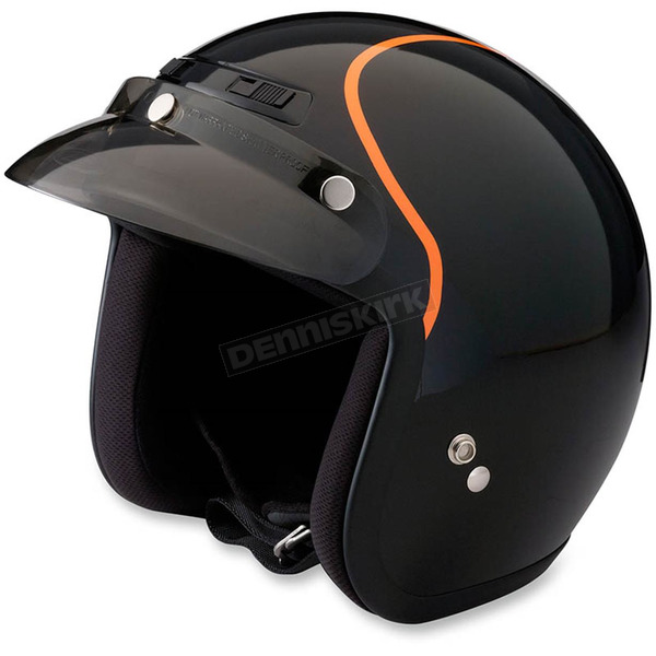 Z1R Black/Orange Jimmy Intake Open Face Helmet - 0104-1771