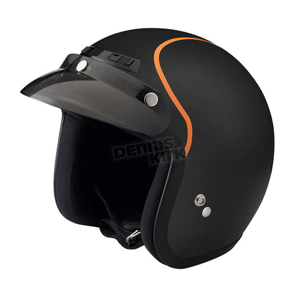Z1R Flat Black/Orange Jimmy Intake Open Face Helmet - 0104-1778