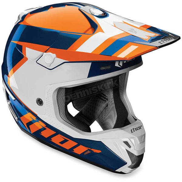 Thor Orange/Navy Verge Scendit Helmet - 0110-4308