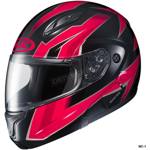 HJC Black/Red/Gray CL-Max 2 Ridge Helmet - 59-14514