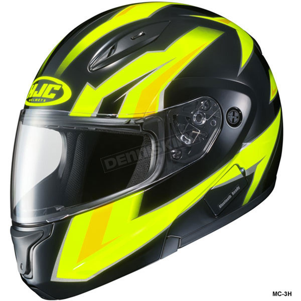 HJC Hi-Viz Neon Green/Black CL-Max 2 Ridge Helmet - 59-14539