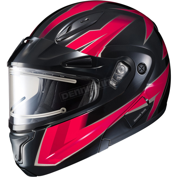 HJC Black/Red/Gray CL-Max 2 Ridge Helmet w/Electric Shield - 59-24519