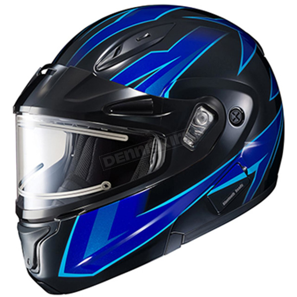 HJC Blue/Black CL-Max 2 Ridge Helmet w/Electric Shield - 59-24529