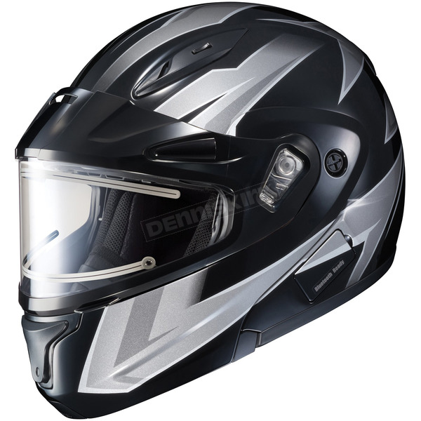 HJC Black/Gray/White CL-Max 2 Ridge Helmet w/Electric Shield - 59-24554