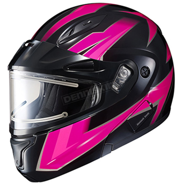 HJC Pink/Black/Gray CL-Max 2 Ridge Helmet w/Electric Shield - 59-24588