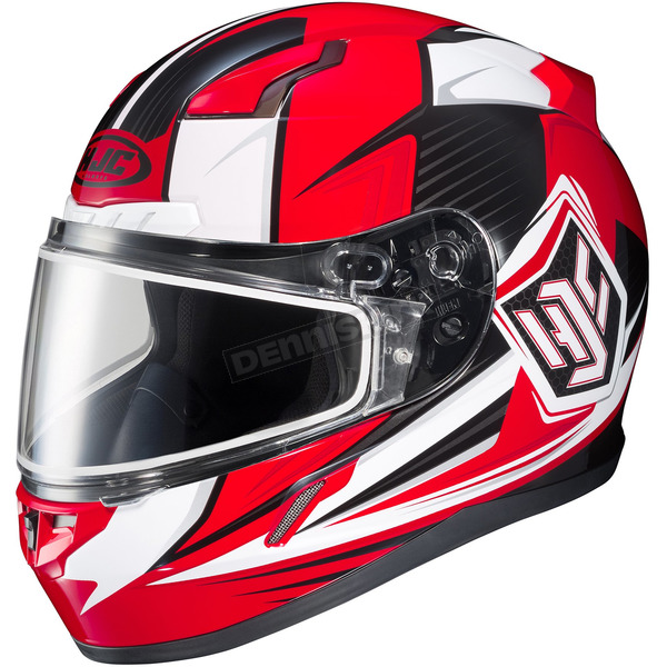 HJC Red/White/Black CL-17SN MC-1 Striker Helmet w/Frameless Dual Lens Shield - 835-917