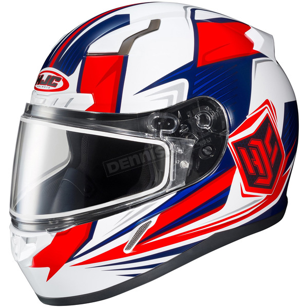 HJC Red/White/Blue CL-17SN MC-1H Striker Helmet w/Frameless Dual Lens Shield - 835-704