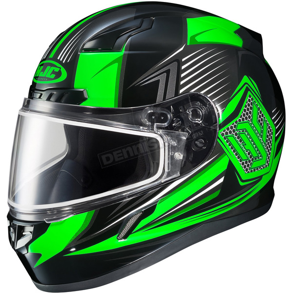 HJC Black/Green/Gray CL-17SN MC-4 Striker Helmet w/Frameless Dual Lens Shield - 835-944