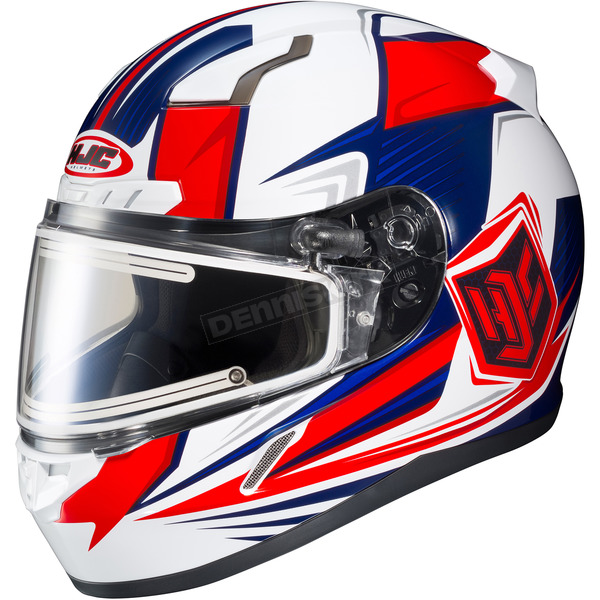 HJC Red/White/Blue CL-17SN MC-1H Striker Helmet w/Frameless Electric Shield - 57-29324