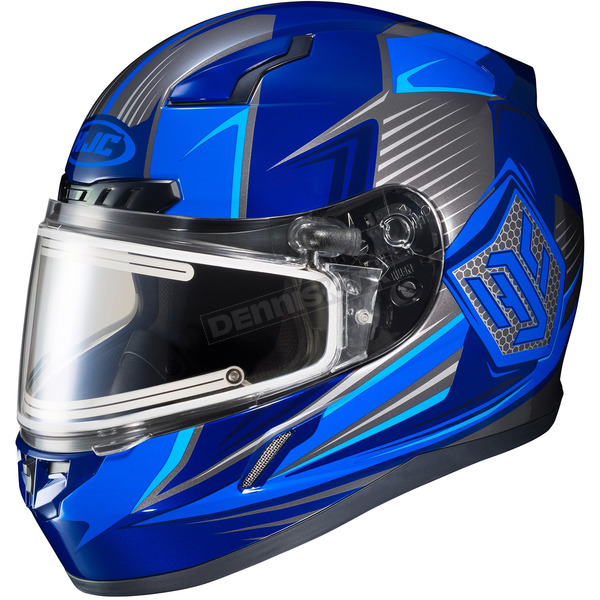 HJC Blue/Black CL-17SN MC-2 Striker Helmet w/Frameless Electric Shield - 57-29339