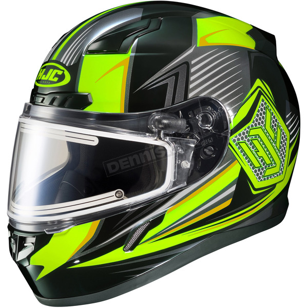 HJC Black/Hi-Viz Green/Gray CL-17SN MC-3H Striker Helmet w/Frameless Electric Shield - 57-29351