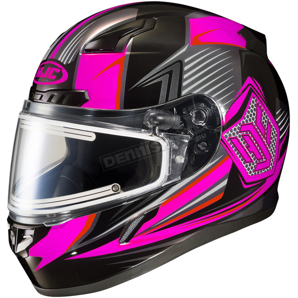 HJC Black/Neon Pink/Gray CL-17SN MC-8 Striker Helmet w/Frameless Electric Shield - 135-981