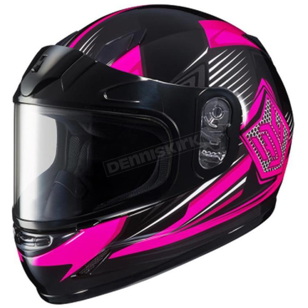 HJC Youth Pink/Black/Gray CL-YSN MC-8 Striker Helmet with Framed Dual Lens Shield - 55-12086