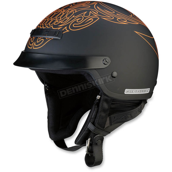 Z1R Black/Orange Nomad Tribal Helmet - 0103-1154
