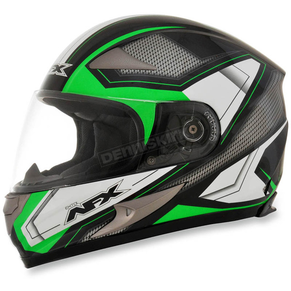 AFX Black/Bright Green FX-90 Extol Helmet - 0101-8422