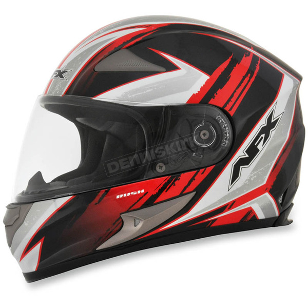 AFX Black/Red FX-90 Rush Gloss Helmet - 0101-8474