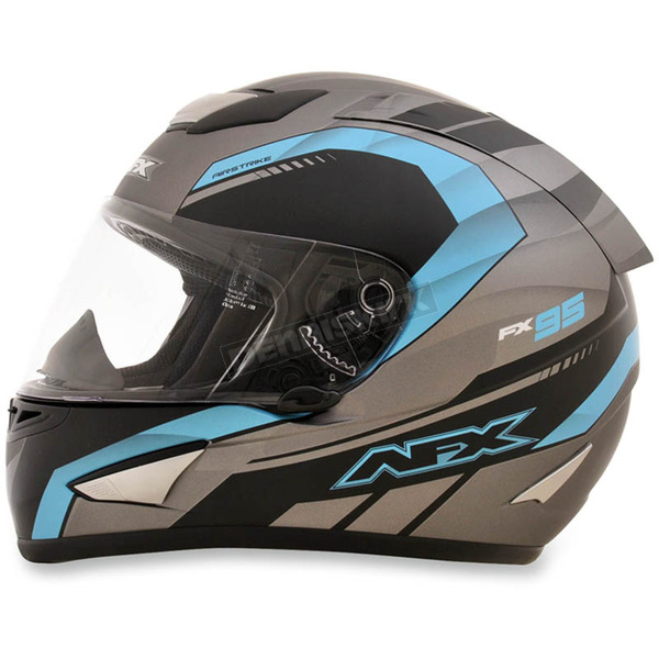 AFX Frost Gray/Light Blue FX-95 Airstrike Helmet - 0101-8560