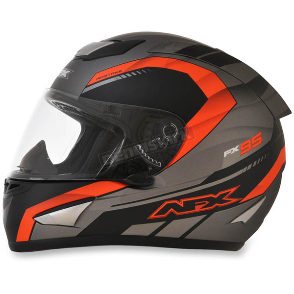 AFX Frost Gray/Safety Orange FX-95 Airstrike Helmet - 0101-8565