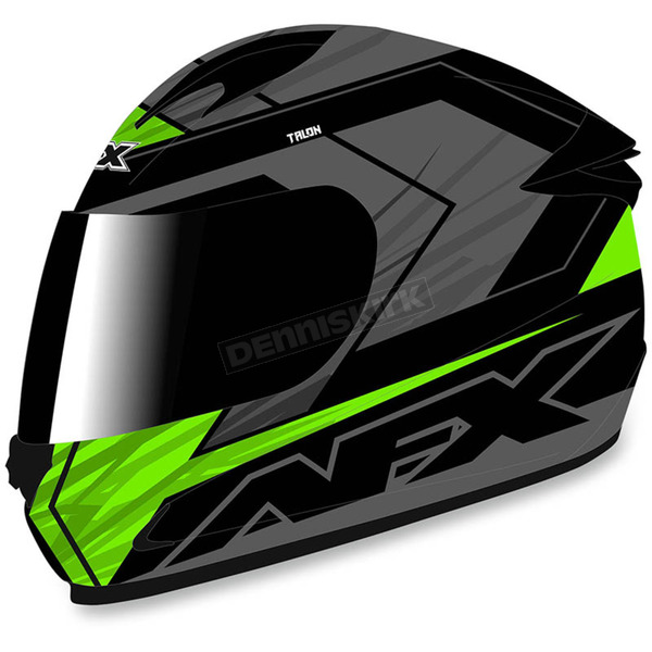 AFX Black/Green FX-24 Talon Helmet - 0101-8668