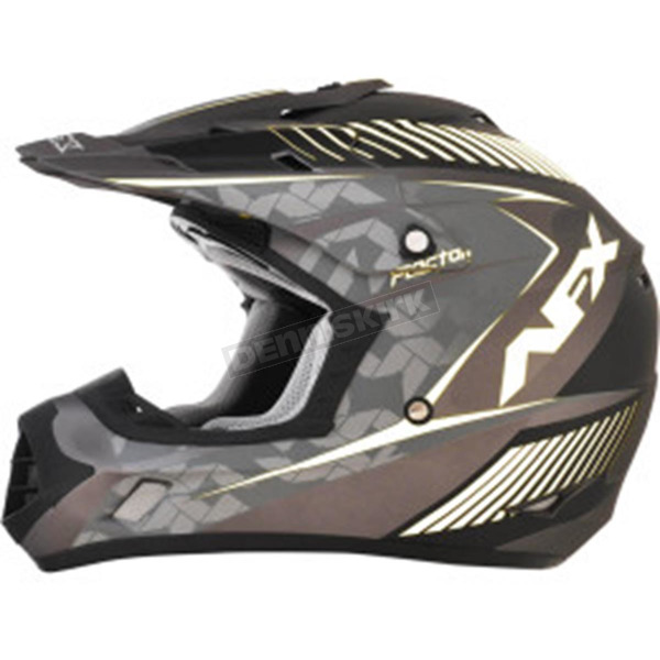 AFX Frost Gray/White FX-17 Youth Factor Helmet - 0111-1013