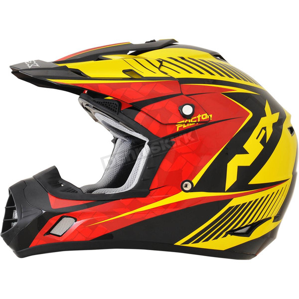 AFX Black/Yellow/Red Complex FX-17 Factor Helmet - 0110-4563