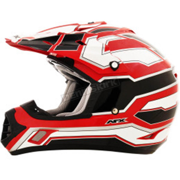 AFX Black/White/Red FX-17 Works Helmet  - 0110-4590