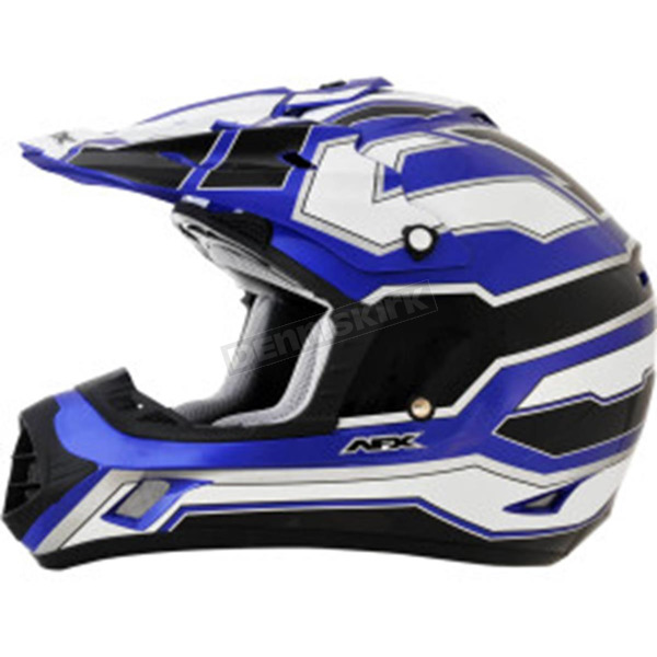 AFX Blue/White/Black  FX-17 Works Helmet - 0110-4597