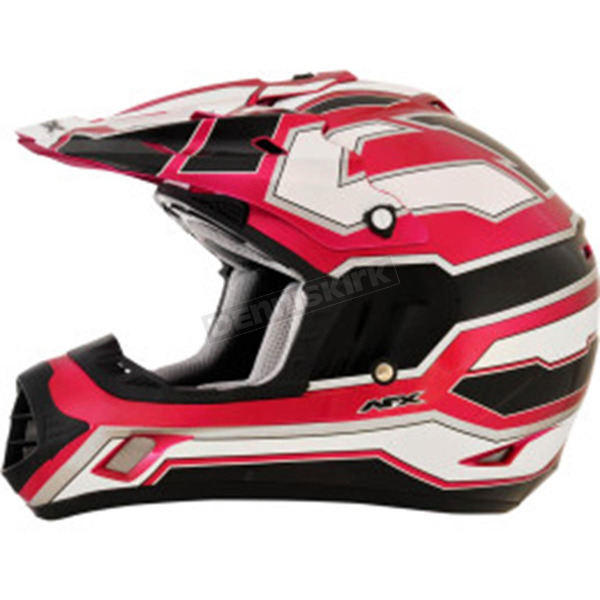 AFX Black/White/Fuchsia FX-17 Works Helmet - 0110-4616