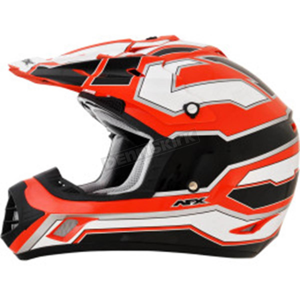 AFX Black/White/Safety Orange FX-17 Works Helmet - 0110-4618